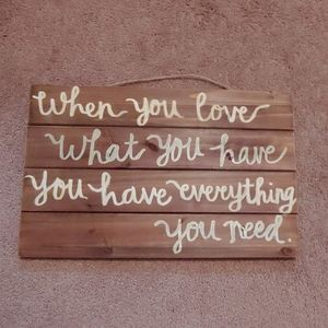 Farmhouse quote sign